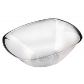 "Plastic Bowl PS Crystal Hard ""Square"" 3000ml Ø27,7cm (30 Units)"