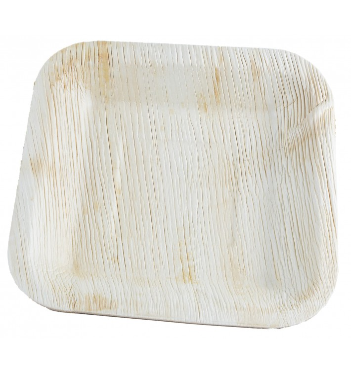 Palm Leaf Plate Square Shape 20x20cm (25 Units)
