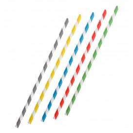 Paper Straw Flexible Pack Ø0,6cm 23cm (250 Units)