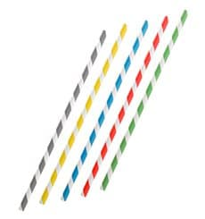 Paper Straw Flexible Pack Ø0,6cm 23cm (250 Units)
