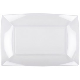 "Plastic Tray Clear ""Nice"" 34,5x23 cm (60 Units)"