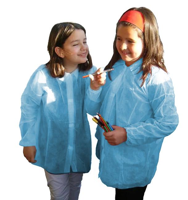 Disposable Kids Lab Coat TST PP Velcro Blue (1 Unit)
