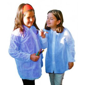 Disposable Kids Lab Coat TST PP Velcro Blue (50 Units)