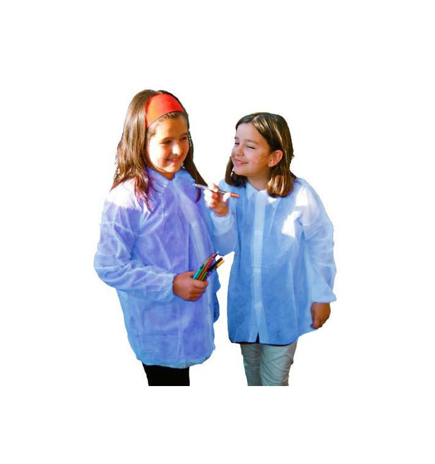 Disposable Kids Lab Coat TST PP Velcro Blue (50 Units)