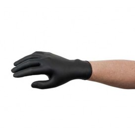 Nitrile Gloves Black Size M AQL 1.5 (100 Units)