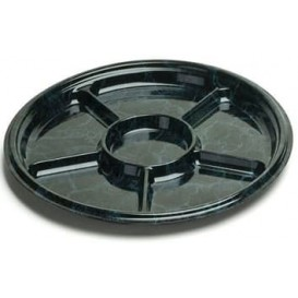 Plastic Tray Marble 6C 30 cm (50 Uds)