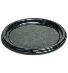 Bandeja Plastico Redonda Marmol 34 cm (5 Uds)
