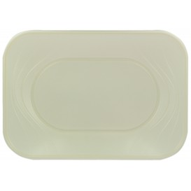"Bandeja de Plastico PP ""X-Table"" Perla 330x230mm (60 Uds)"