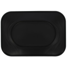 "Plastic Tray Microwavable ""X-Table"" Black 33x23cm (2 Units)"