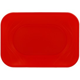 """Bandeja de Plastico PP """"X-Table"""" Rojo 330x230mm (60 Uds)"""