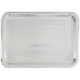 Paper Tray Rectangular shape Silver 18x24cm (100 Units)