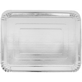 Paper Tray Rectangular shape Silver 25x34cm (100 Units)
