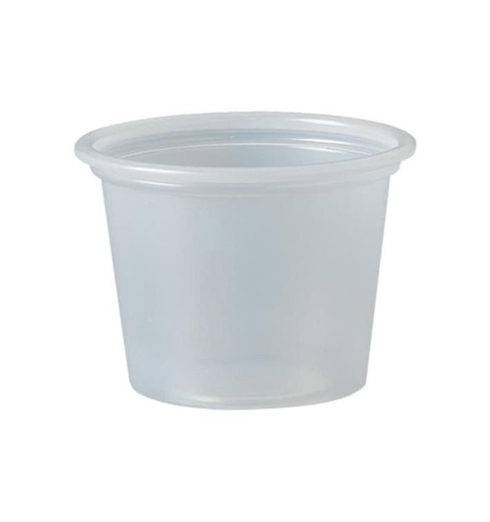 Plastic Souffle Cup PS Clear 30ml Ø4,8cm (250 Units)