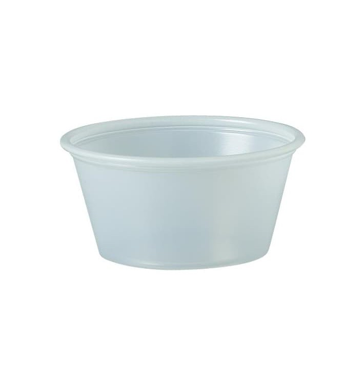 Plastic Souffle Cup PS Clear 60ml Ø6,6cm (250 Units)