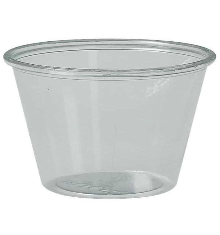 Plastic Souffle Cup PS Clear 120ml Ø7,3cm (2500 Units)
