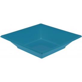 Plastic Plate Deep Square shape Turquoise 17 cm (750 Units)