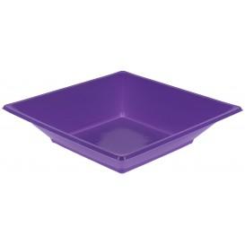 Plastic Plate Deep Square shape Lilac 17 cm (750 Units)
