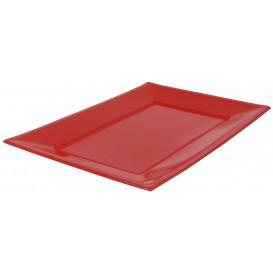 Plastic Tray Red 33x22,5cm (3 Units)