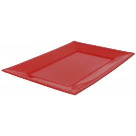 Plastic Tray Red 33x22,5cm (750 Units)