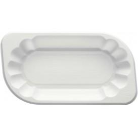 Plastic Tray White 17,5x9,5x3cm 250ml (250 Units)