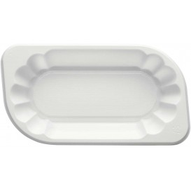 Bandeja de Plastico PS Blanca 300ml (1500 Uds)
