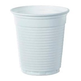 Plastic Cup PS Vending White 166ml Ø7,0cm (100 Units)
