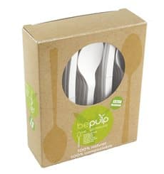 Cornstarch Spoon PLA Biodegradable White 15,5cm (500 Units)