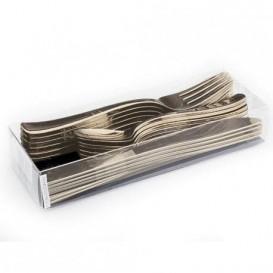 Cutlery Kit Fork, Knife y Spoon Gold Metallized (1 Unit)