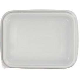 Plastic Lid for Tray Clear 15,7x11,2x5,1cm (100 Units)
