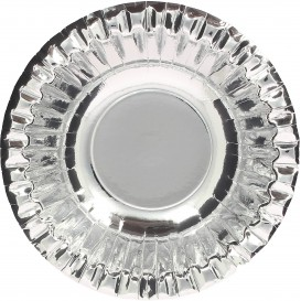 "Bol de Cartón ""Party"" Plata Ø160mm (6 Uds)"