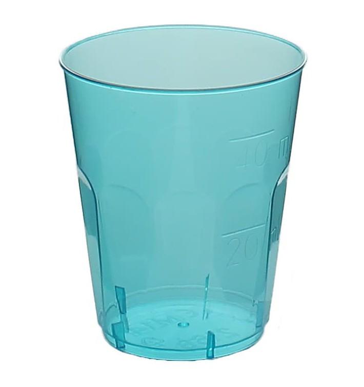 "Plastic Shot PS Crystal ""Diamant"" Blue 50ml (600 Units)"