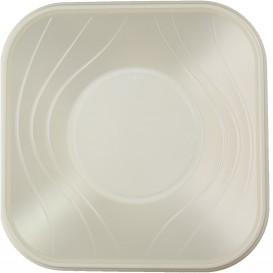 "Bol de Plastico PP ""X-Table"" Cuadrado Perla 180x180mm (8 Uds)"