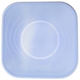 """Plastic Bowl PP Square shape """"X-Table"""" Violet 18x18cm (120 Units)"""