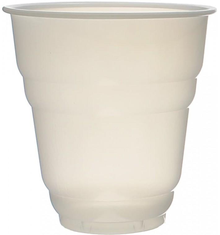 "Plastic Cup PS Vending ""Design"" White Satin 166ml Ø7,0cm (3000 Units)"