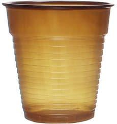 Vaso de Plastico PS Vending Marrón 166ml (3000 Uds)