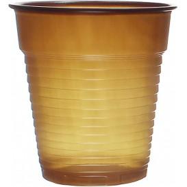Plastic Cup PS Vending Brown 166ml Ø7,0cm (100 Units)