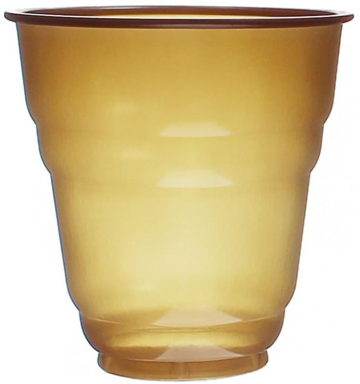 """Plastic Cup PS Vending """"Design"""" Brown 166ml Ø7,0cm (100 Units)"""