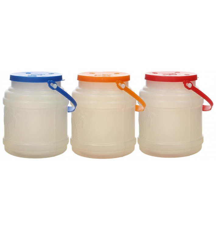 Plastic Milk Container with Handle and Lid 500 ml (10 Units)