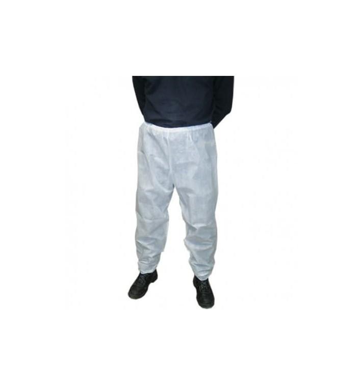 "Disposable Plastic Trousers ""TST"" PP White (100 Units)"