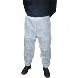 """Disposable Plastic Trousers """"TST"""" PP White (1 Unit)"""