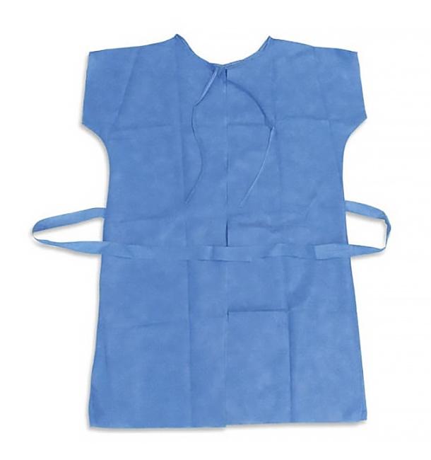 Disposable Lab Coat for patients RX Blue XL (10 Units)