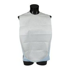 Disposable Adult Bib with Pocket White Economy 36x65cm (125 Units)