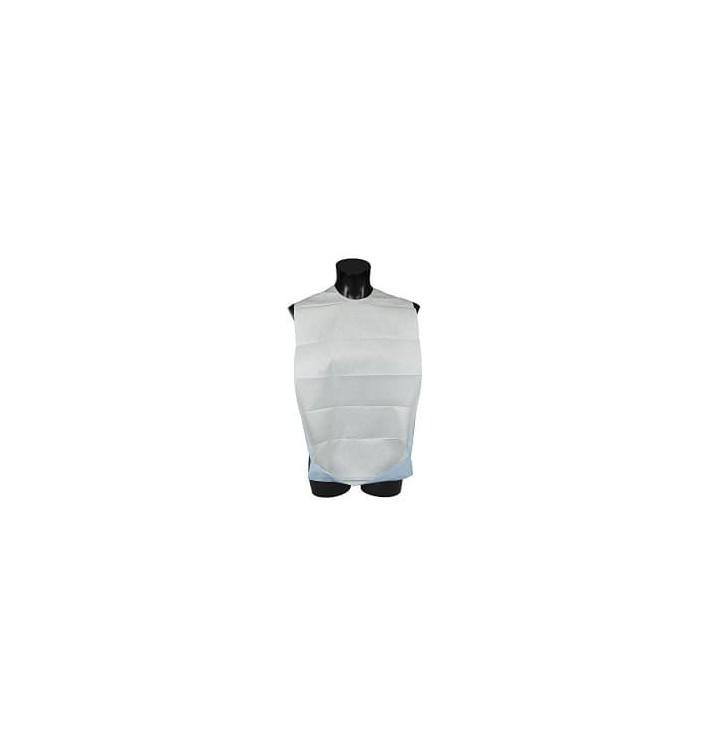 Disposable Adult Bib with Pocket White Economy 36x65cm (125 Units)