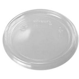 Plastic Lid Flat Clear Ø7,4cm (100 Units)