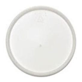 Plastic Lid PS Flat for Foam Container Ø12,7cm (100 Units)