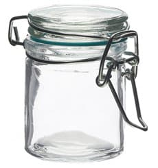Glass Storage Jar Airtight 45 ml Ø4,5x6cm