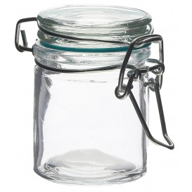 Glass Storage Jar Airtight 45 ml Ø4,5x6cm (96 Units)