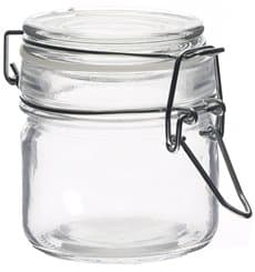 Glass Storage Jar Airtight 80 ml Ø6x7cm