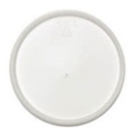 Plastic Lid PS Flat for Foam Container Ø12,7cm (500 Units)