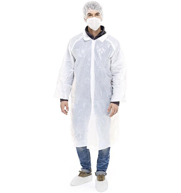 Disposable Protection Kit TNT PE 3 pieces + Mask White (1 Unit)